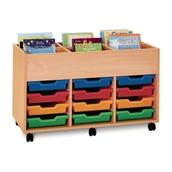 12 Shallow Kinderbox Tray Unit - Beech