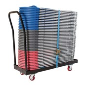 40 Straight Bk Chr and Trolley Set - pack of 40