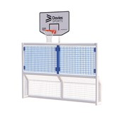 Primary 5-a-Side Goal With Basketball Ring - White Frame