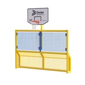 Primary 5-a-Side Goal With Basketball Ring - Yellow Frame