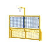 Primary 5-a-Side Goal With Netball Hoop - Yellow Frame