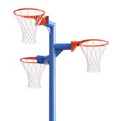 Triple Netball Post and Ring