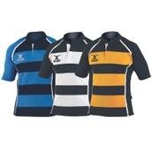 Gilbert Xact Hoops Match Rugby Shirt
