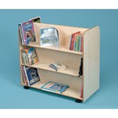 Mobile Bookcase Beech