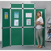HeavyDuty Fold-Up 8 Panel Display System (with Header) Portrait