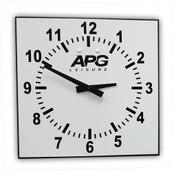 APG Time of Day Clock - White/Black