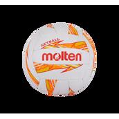 Molten Dynamite Netball - White/Orange/Yellow