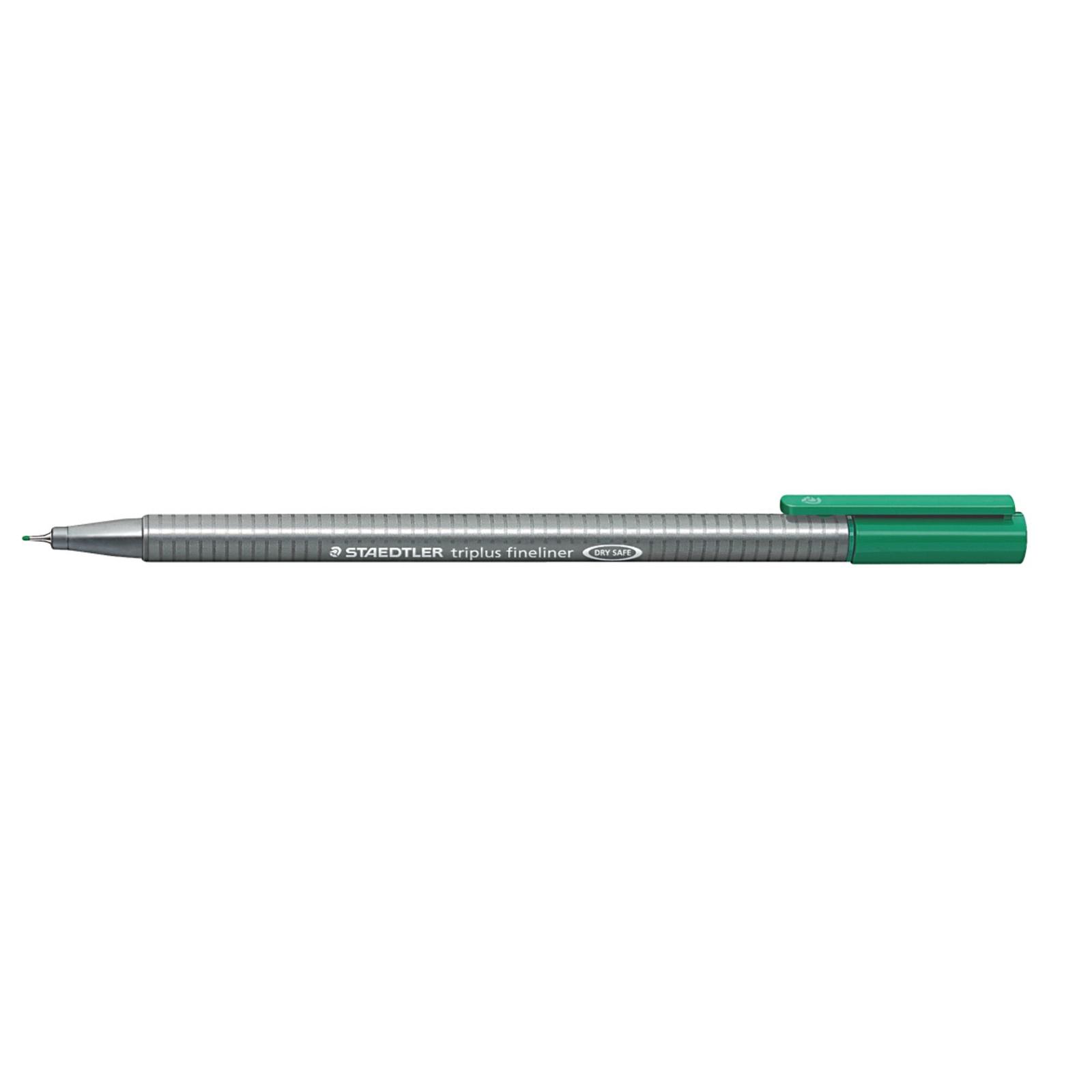 Staedtler Triplus 334 Fineliner Pen Green - Pack of 10