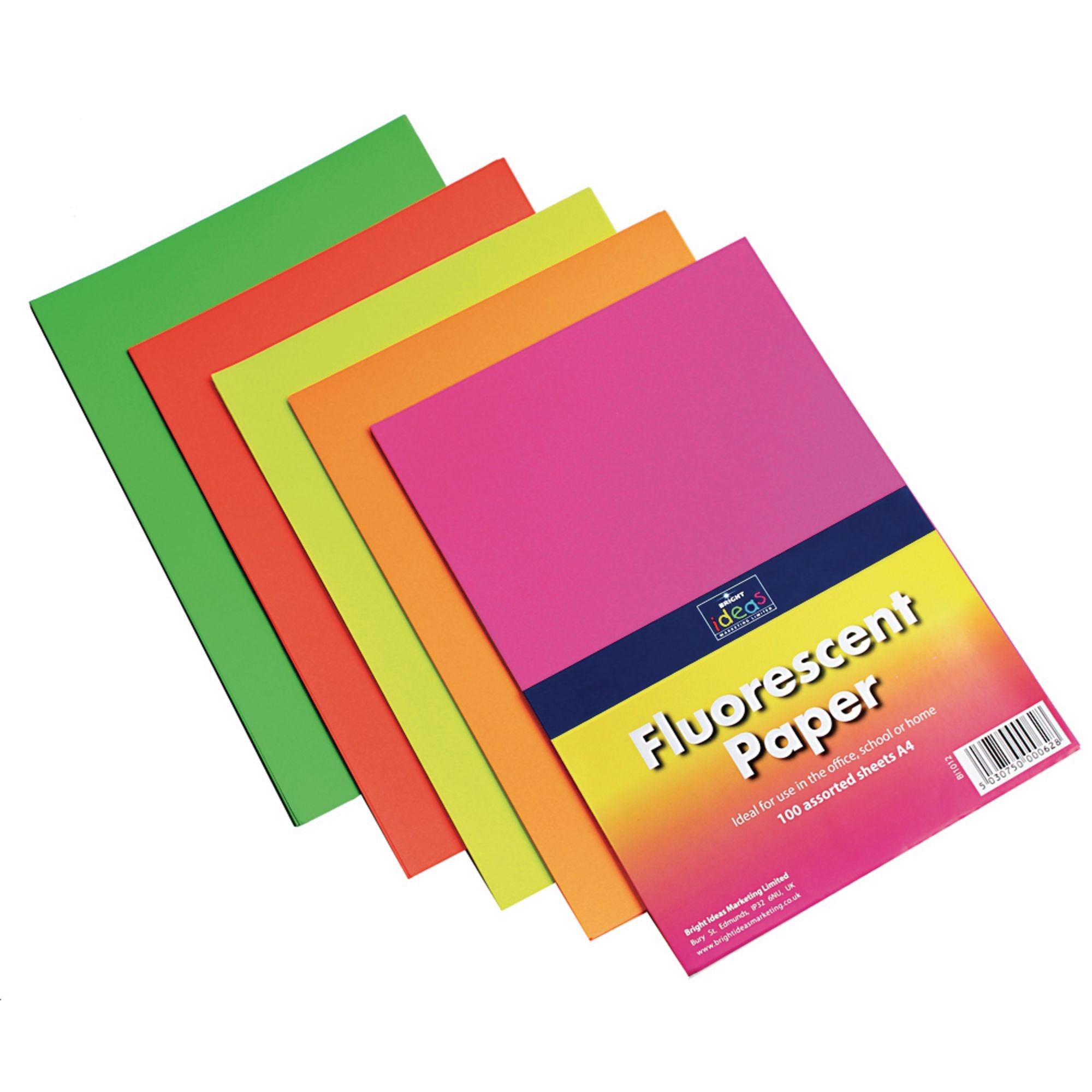 A4Dayglo Copier Paper Ast Pk100