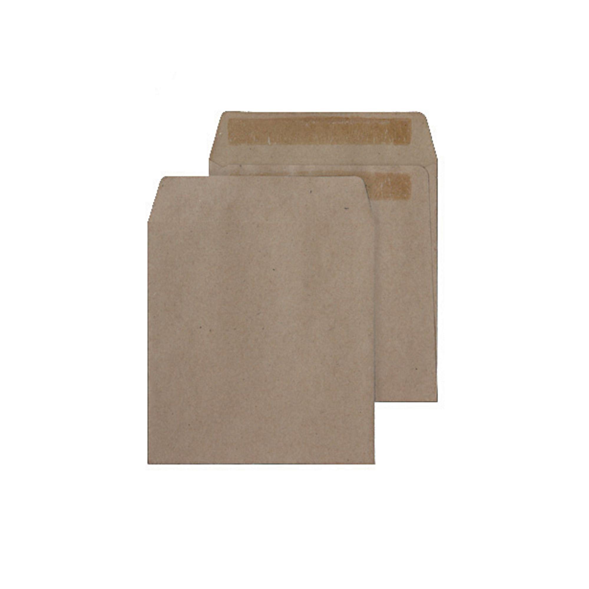 Envelopes 108X102mm Buff Gummed Pocket Pk1000
