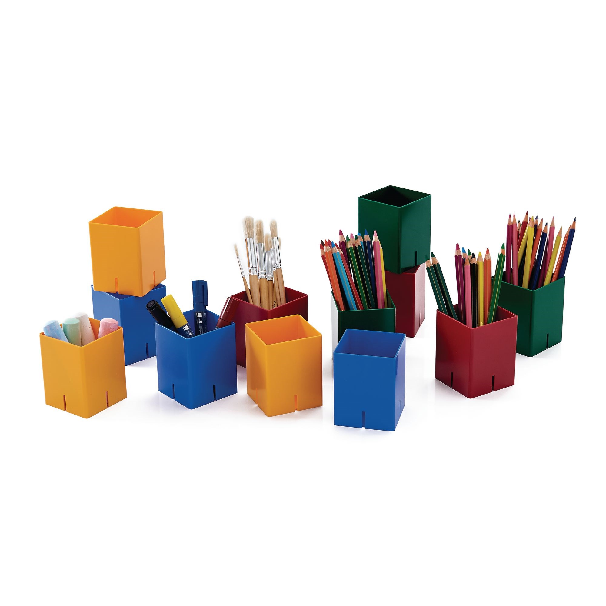 Primary Colour Storage PotsPk12