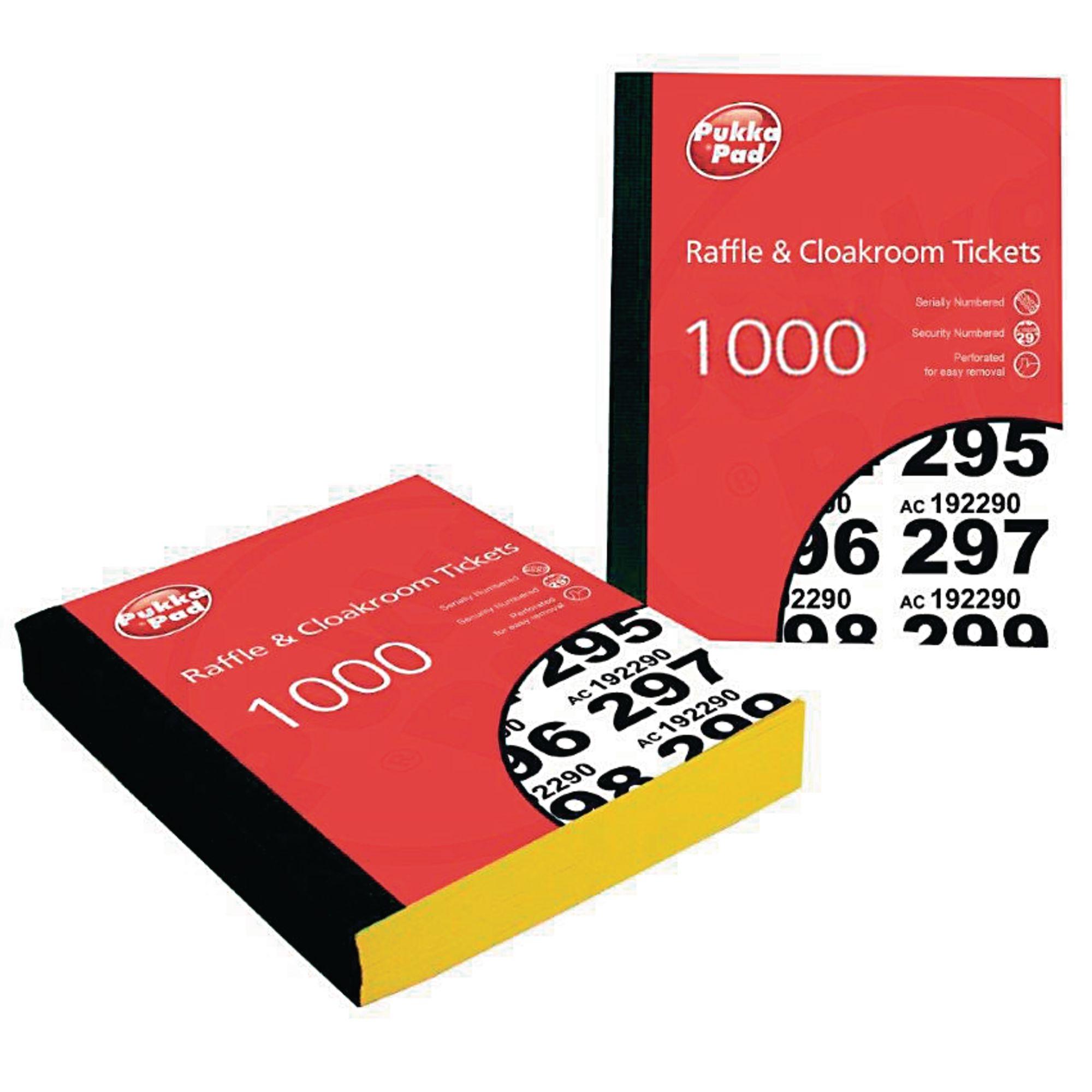 Raffle Cloakroom Tickets Pk6