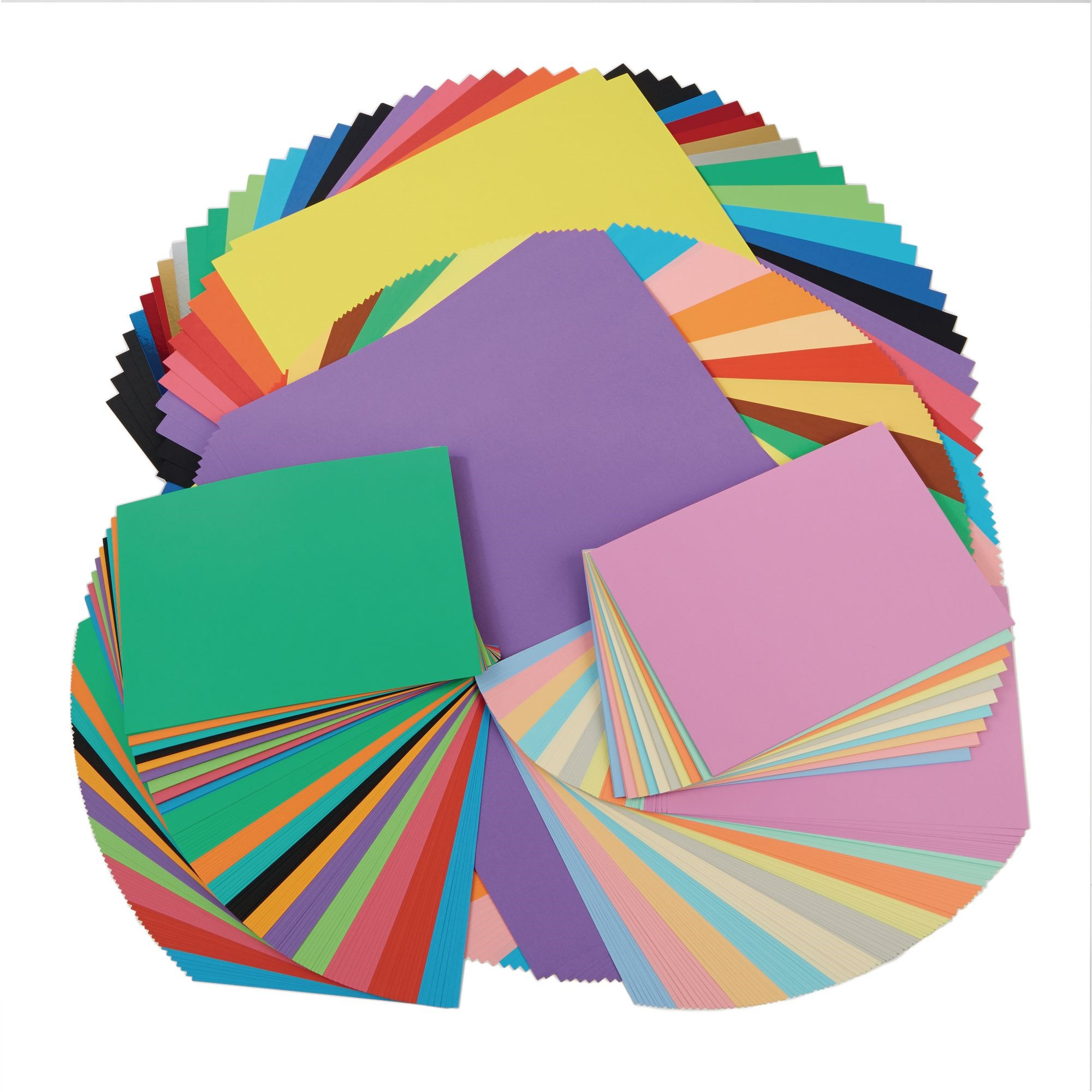 530 Sheets Assorted Card Paper Pack