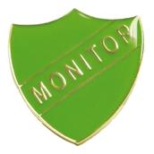 Monitor Shield Badge - Green