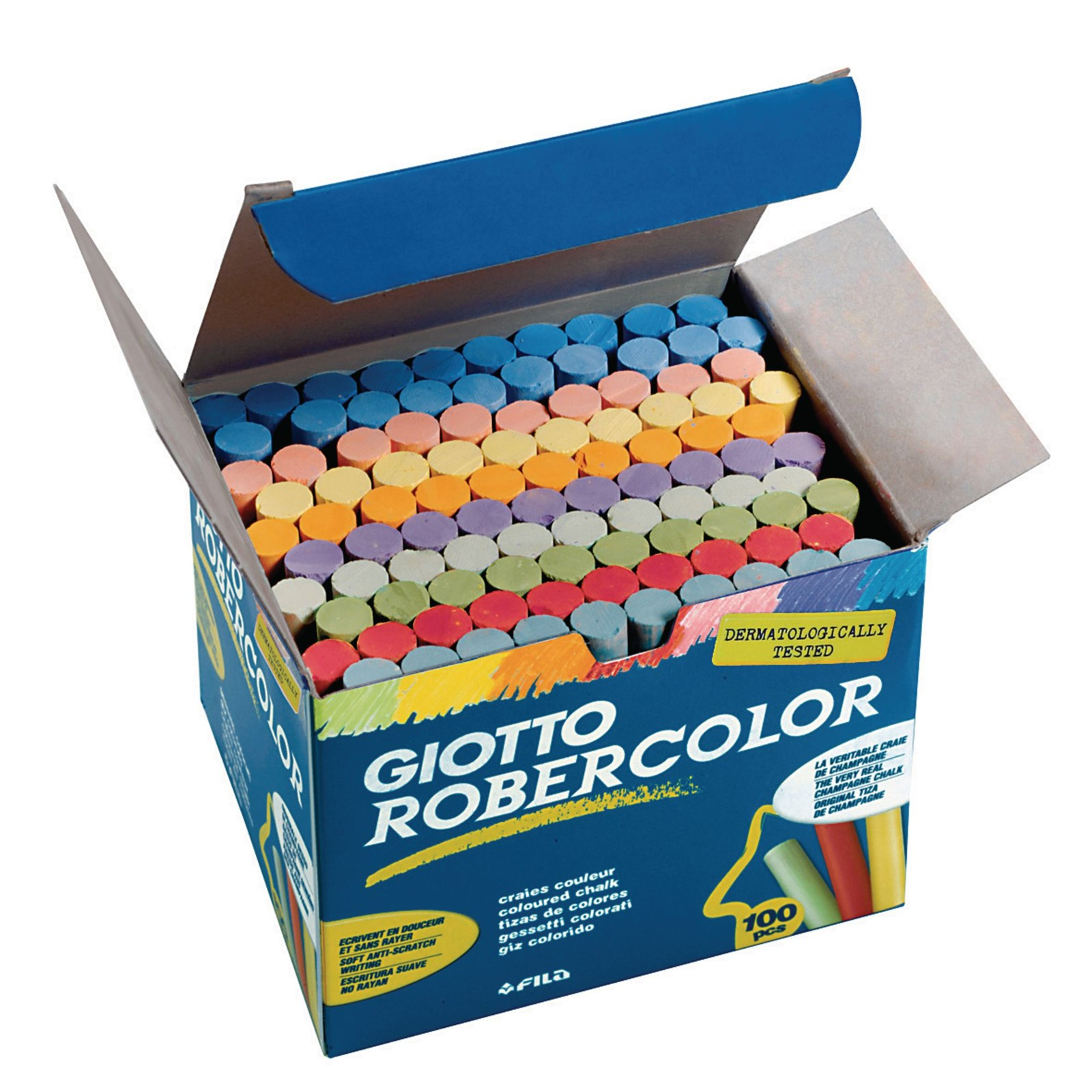 Giotto Robercolor Chalk Assorted Pack 100