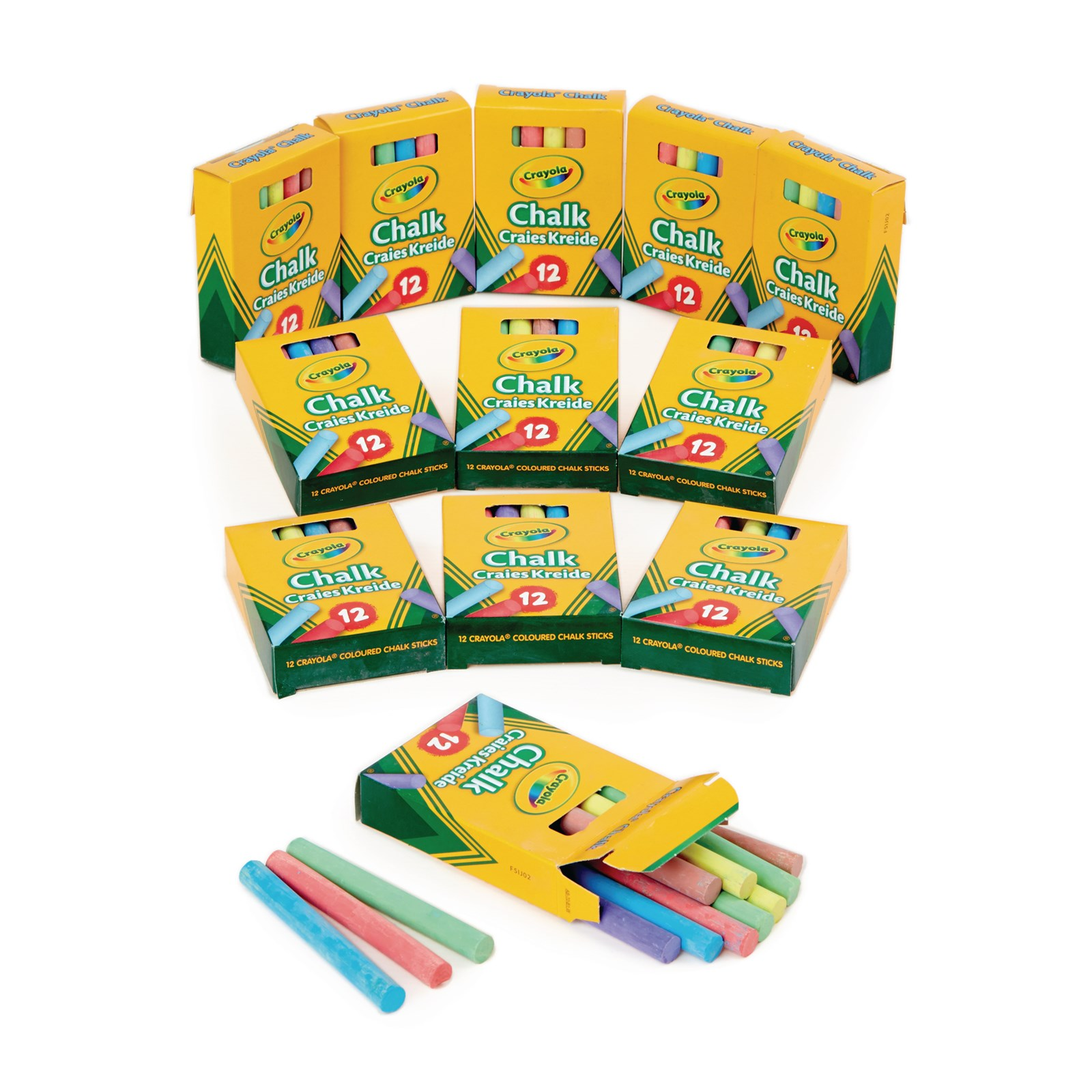Crayola Anti-Dust Chalk Assorted Pack of 144