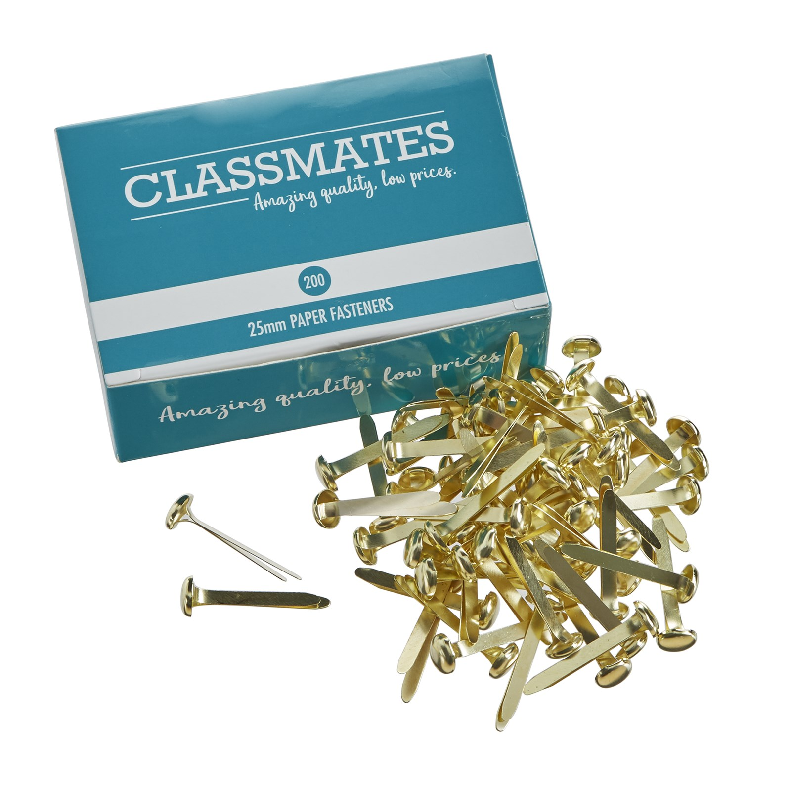 Classmates Paper Fasteners 25mm - Pack of 200
