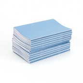"""Classmates Light Blue 6x4"""" Vocabulary Book 40-Page, 8mm Ruled With Margin - Pack of 50"""