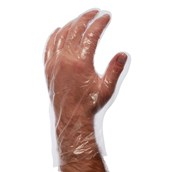 Medium Clear Powder Free Disposable Gloves - Pack of 100
