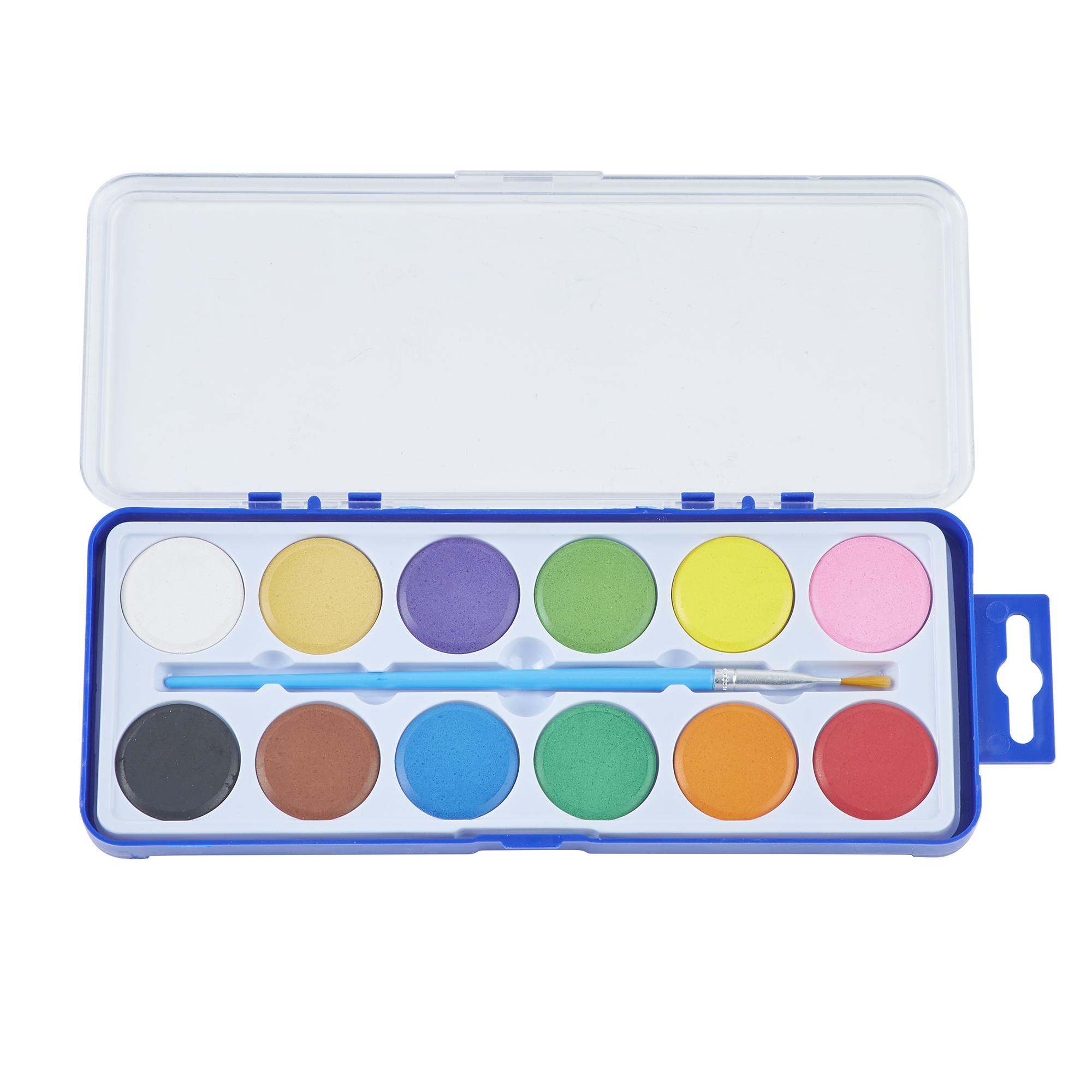 watercolour paint in 12 assorted colours palette gls. Black Bedroom Furniture Sets. Home Design Ideas