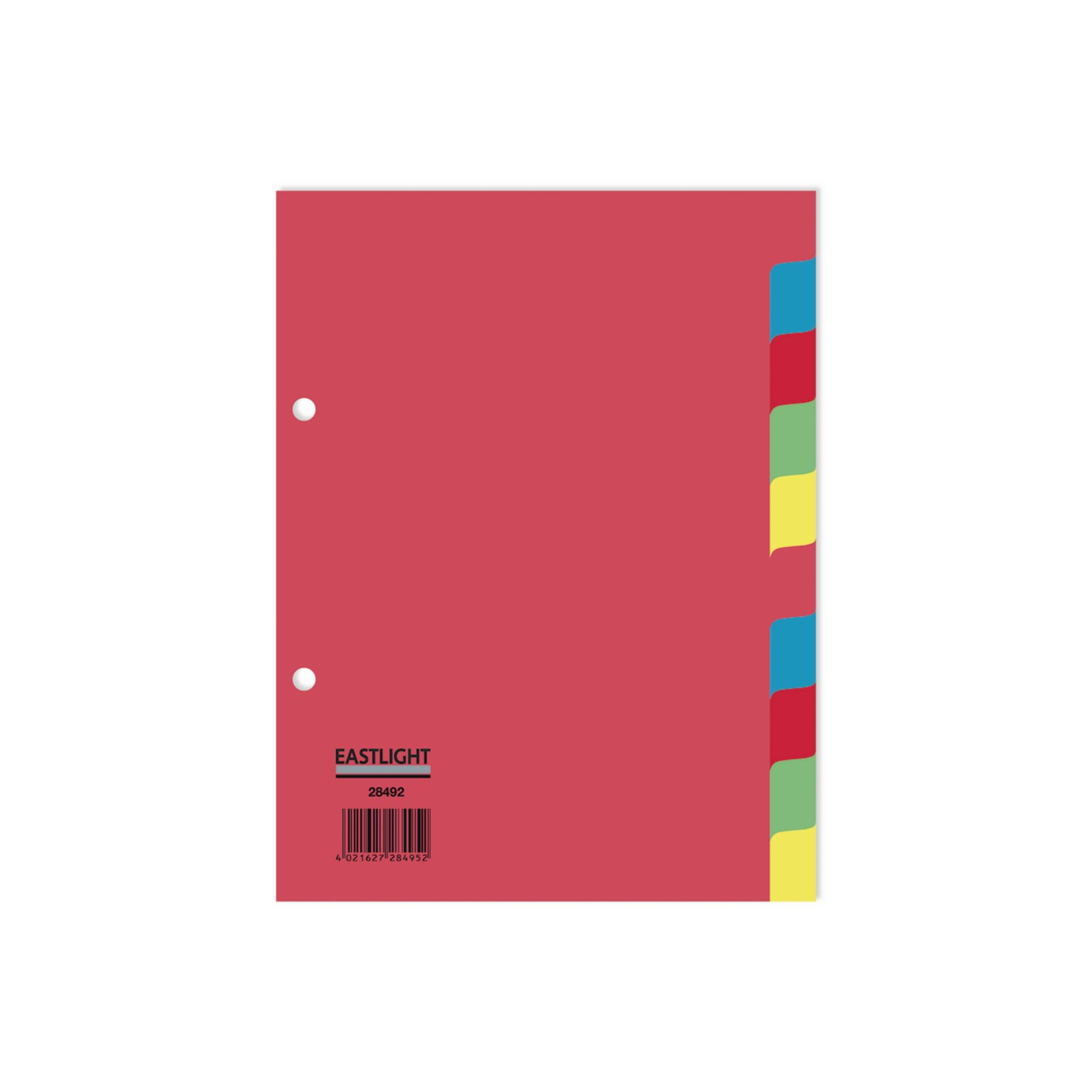 Concord Divider 10-Part A5 160gsm Pastel Colours (Pack of 5)