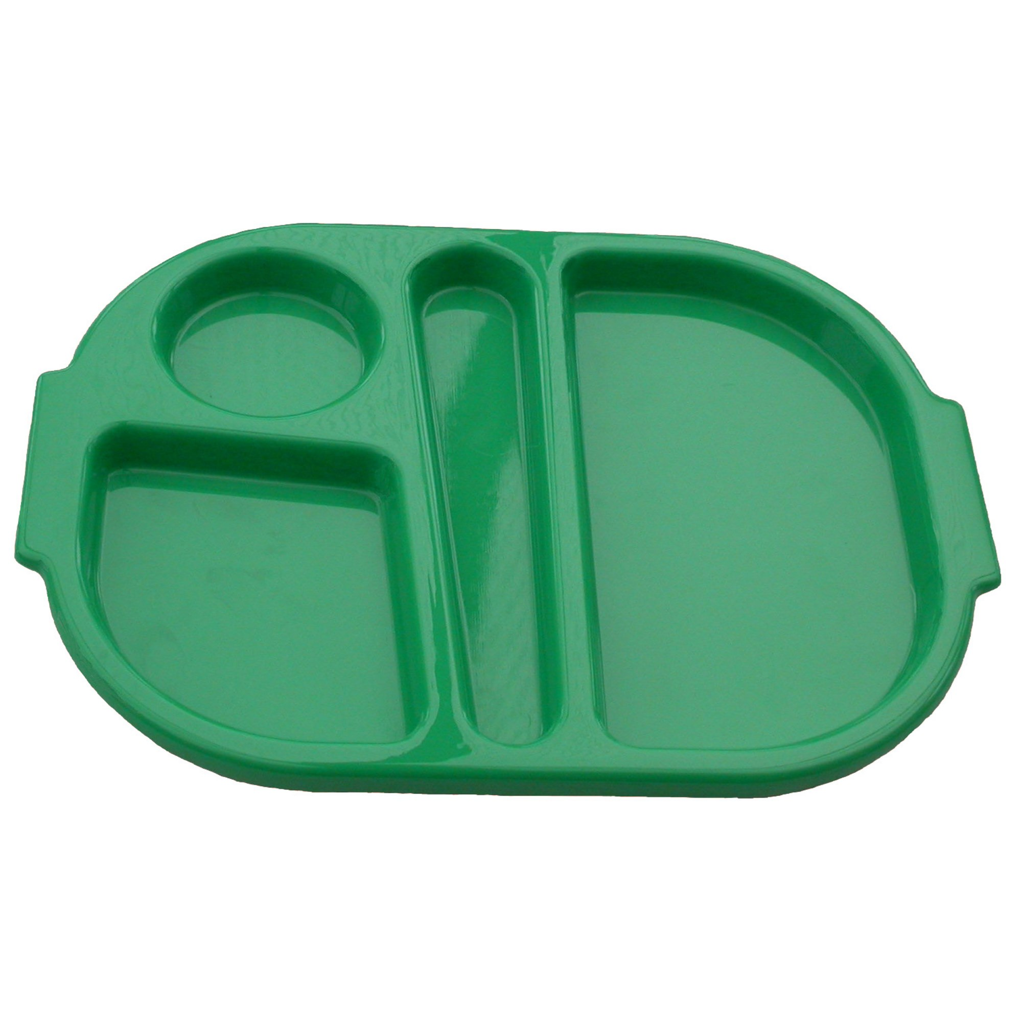 Harfield Polycarbonate Meal Tray Large Green (Pack of 10)