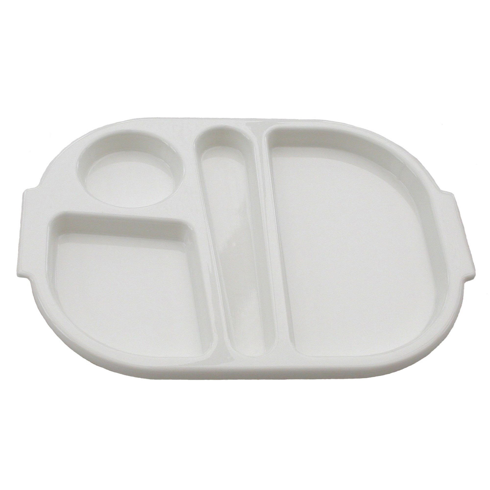 Harfield Polycarbonate Meal Tray Small White (Pack of 10)