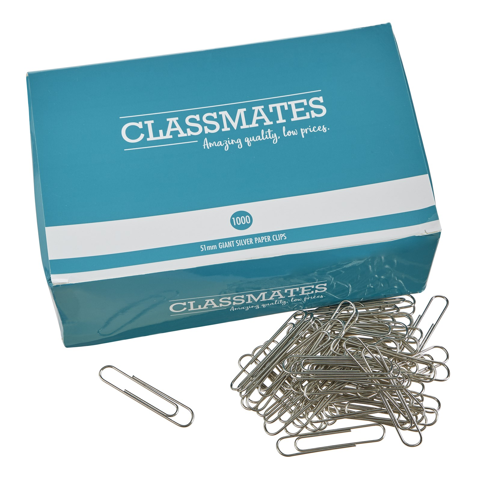 Classmates Paper Clips Giant 51mm - Pack of 1000