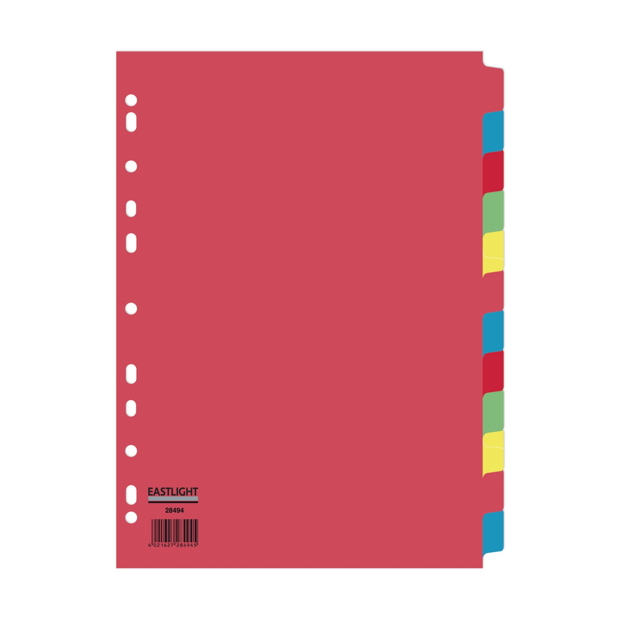 Concord Divider 12-Part A4 160gsm Multicoloured (Pack of 5)