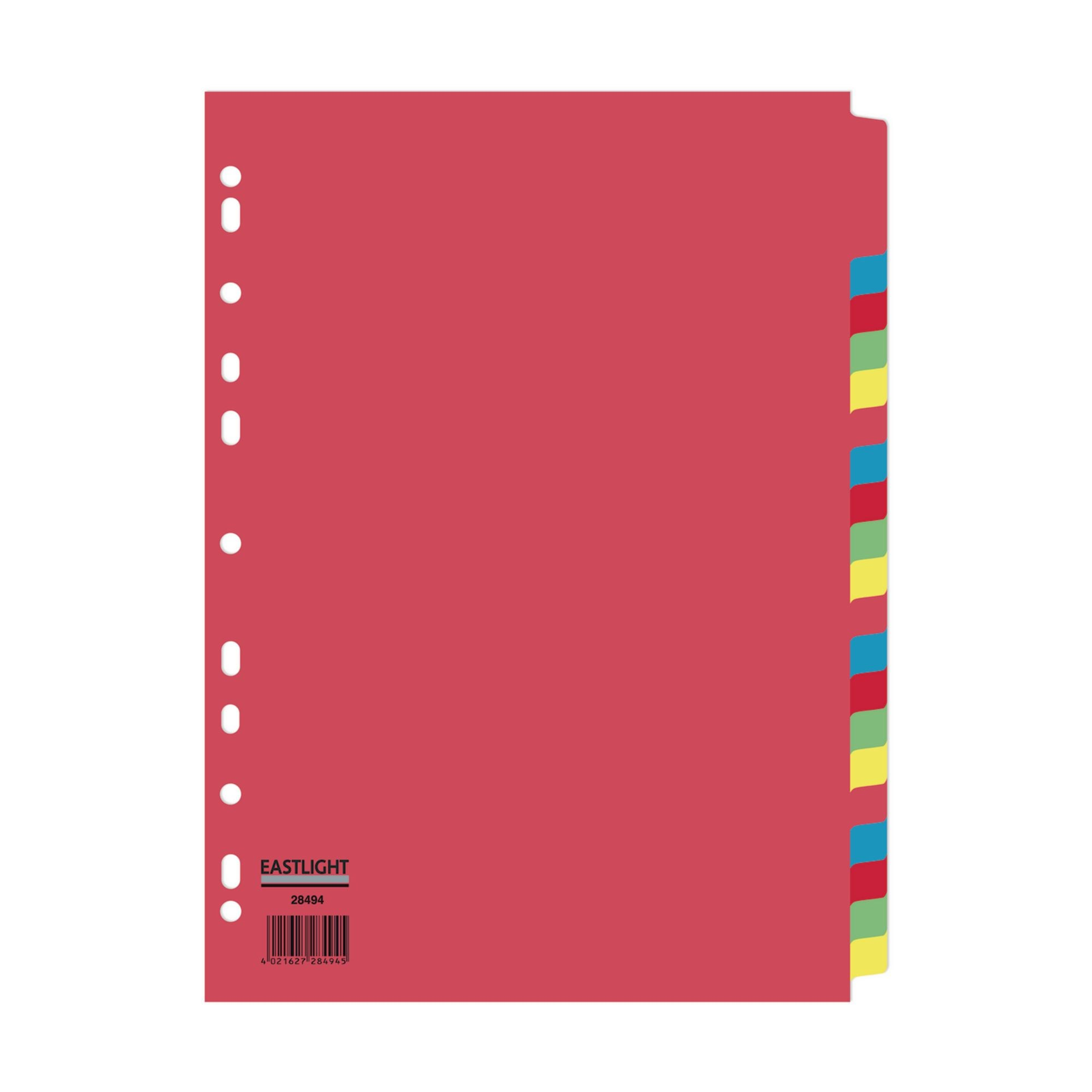 Concord Divider 20-Part A4 160gsm Multicoloured (Pack of 5)