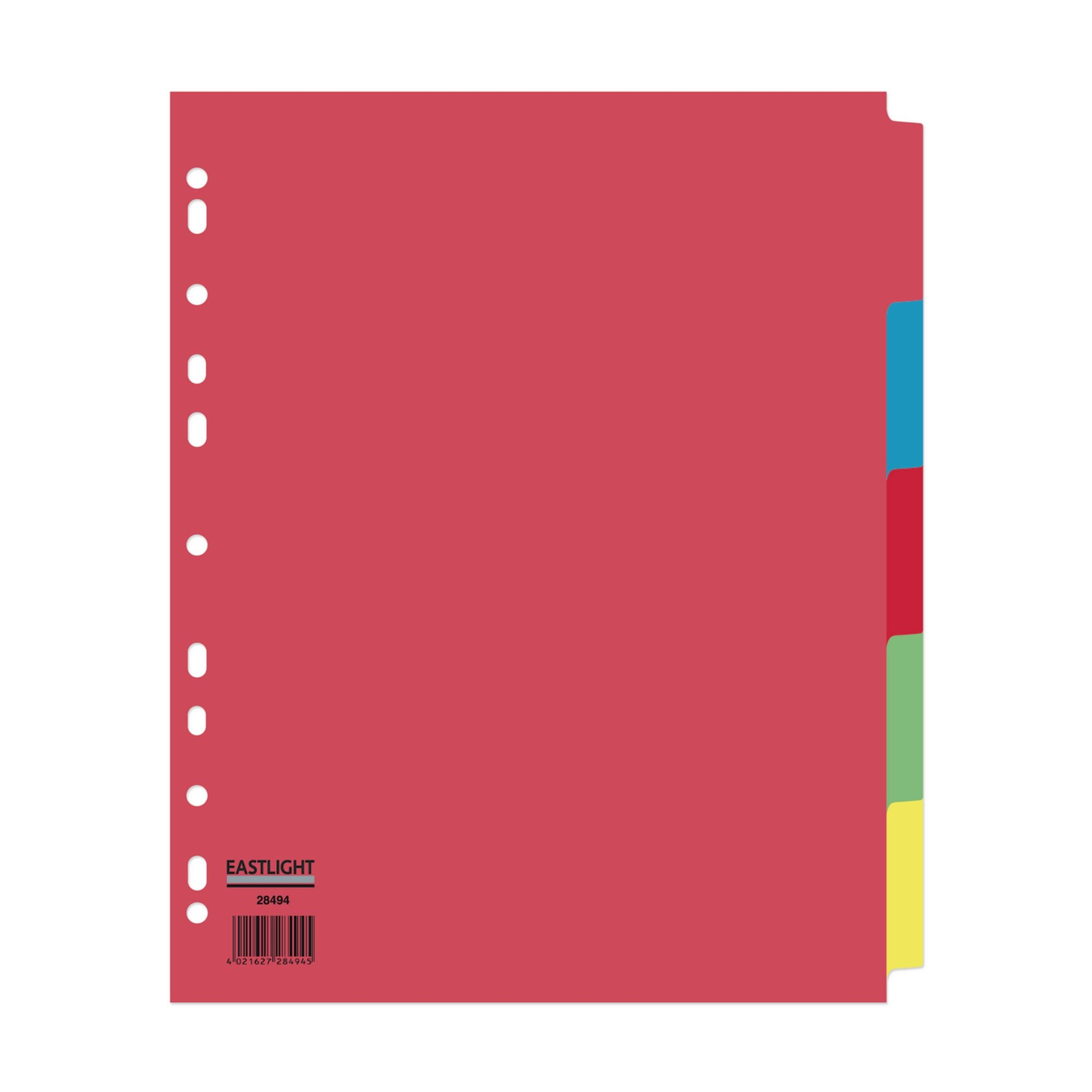 Concord Divider 5-Part A4 Extra Wide Pastel Colours (Pack of 10)