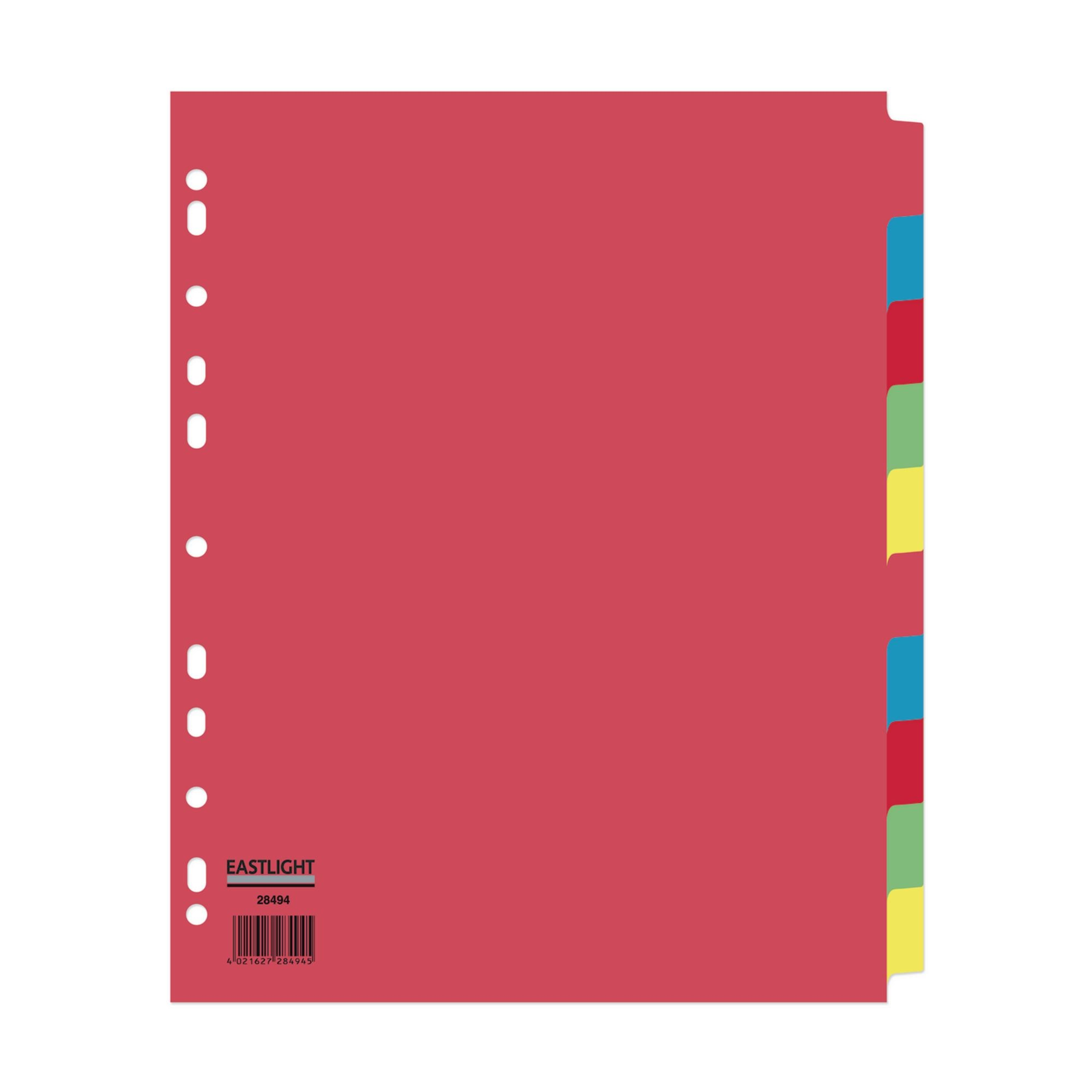 Concord Divider 10-Part A4 Extra Wide Pastel Colours (Pack of 10)