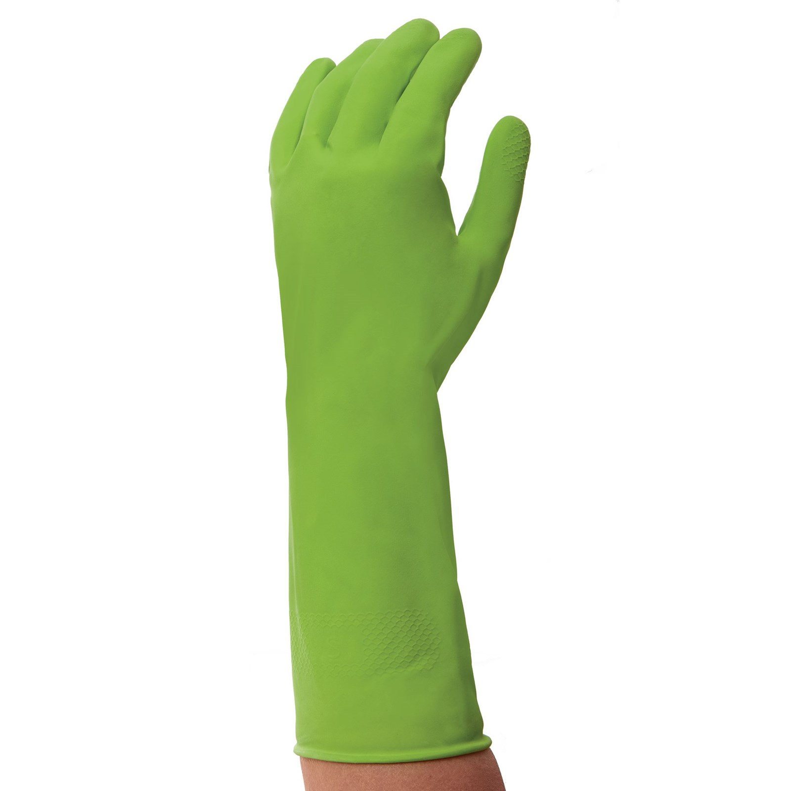 General Purpose Rubber Gloves -Green - Small Pack 12