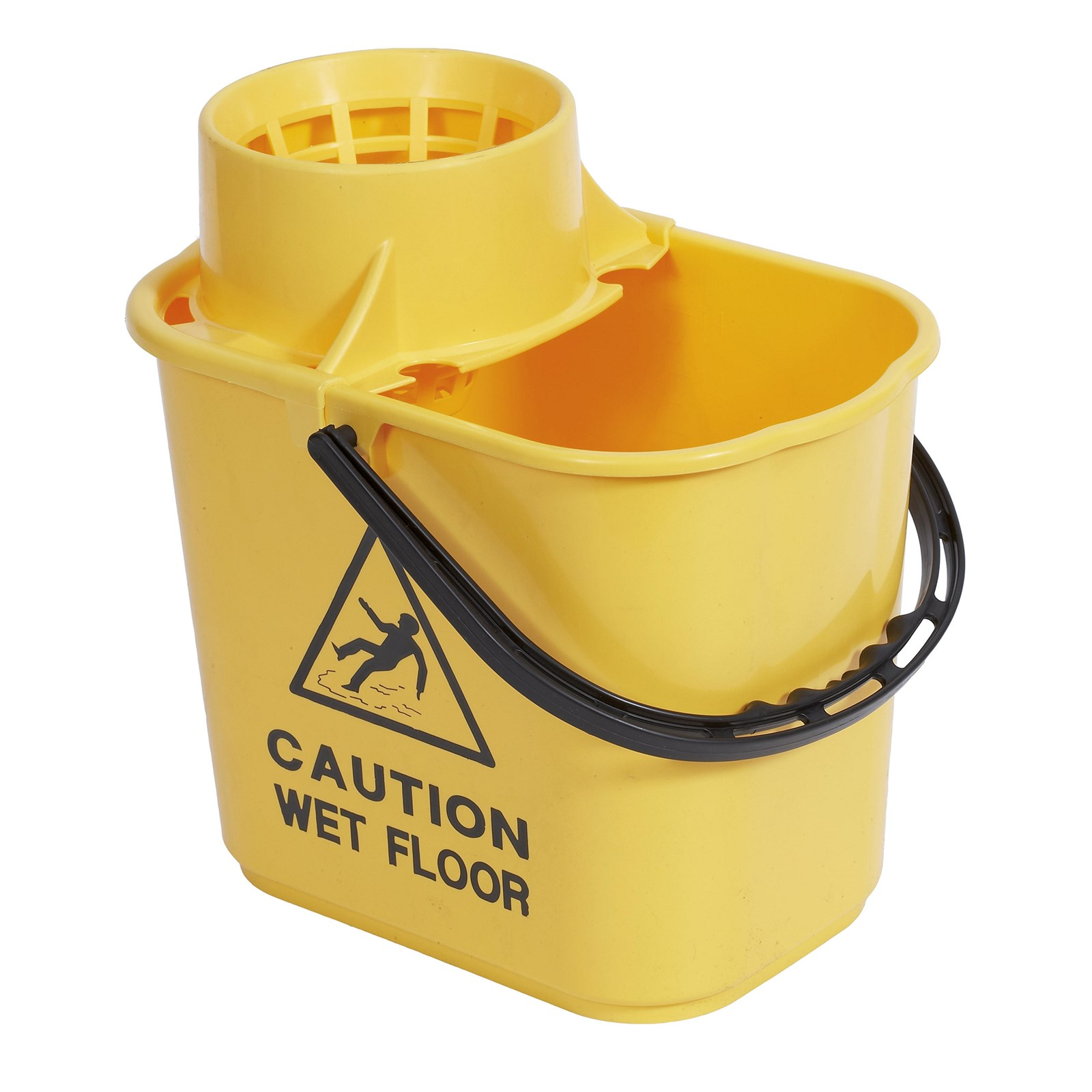 Classmates Professional Mop Bucket and Wringer - Yellow