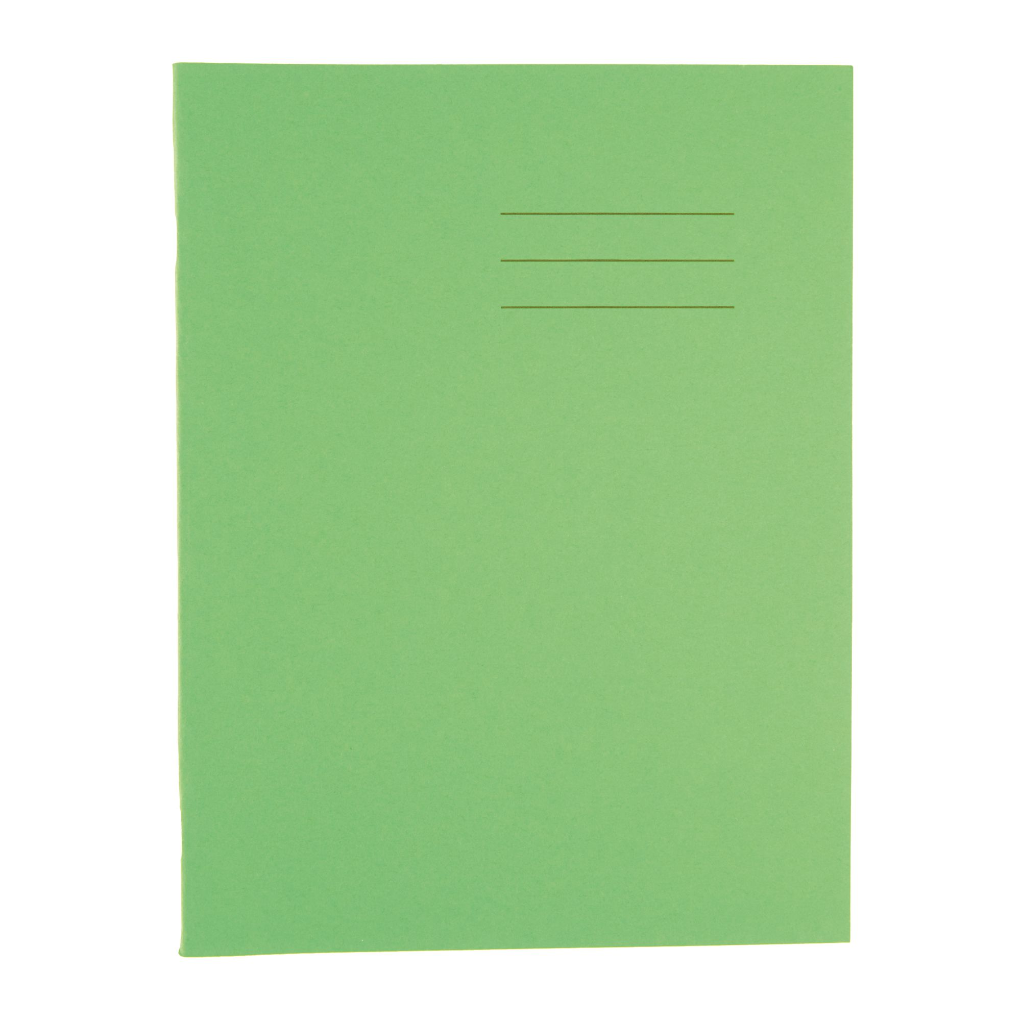 Classmates Vivid Green A4 Exercise Book 32-Page, 8mm Ruled / Plain Split -  Pack of 100
