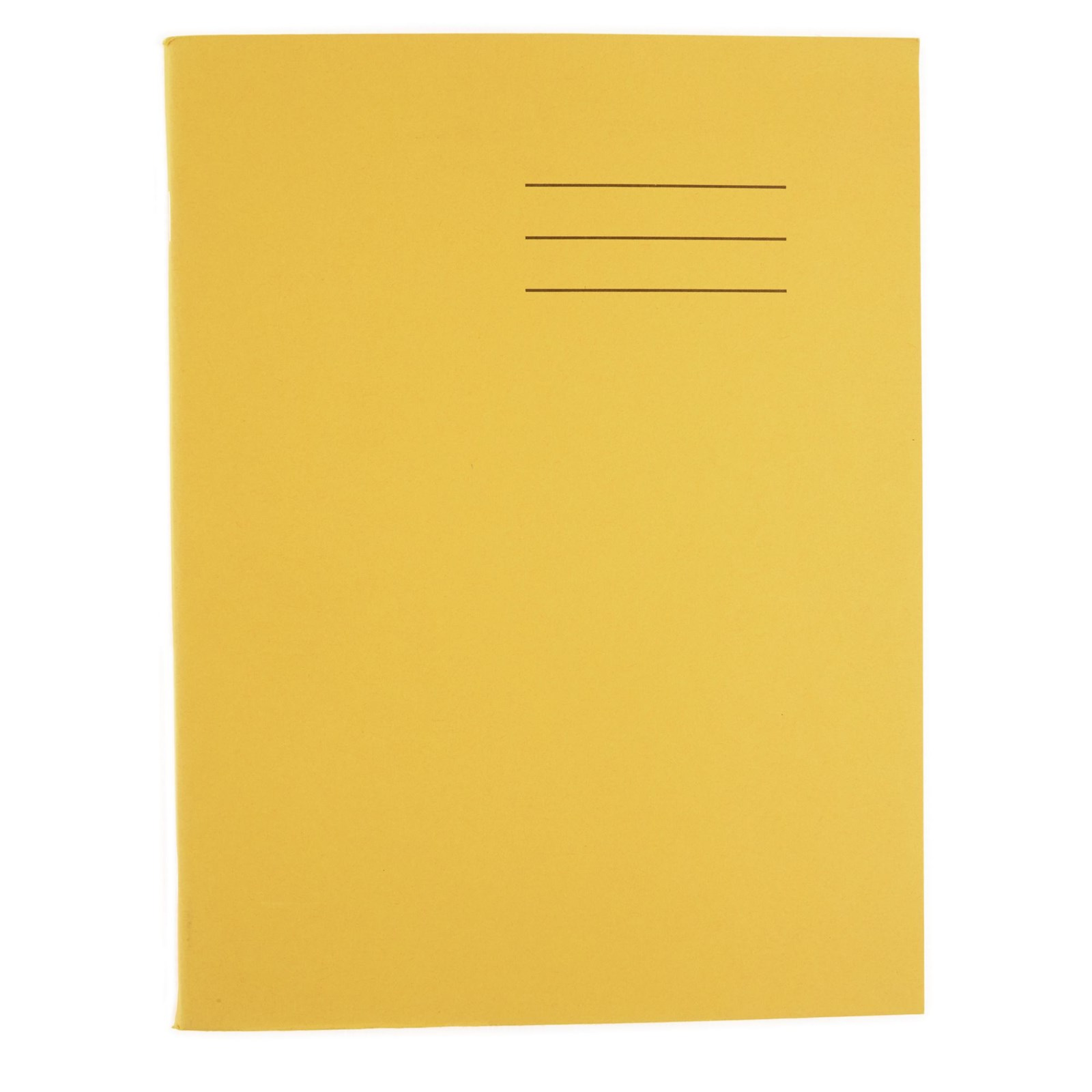 """Yellow 9x7"""" Exercise Book 80-Page, 7mm Squared - Pack of 100"""