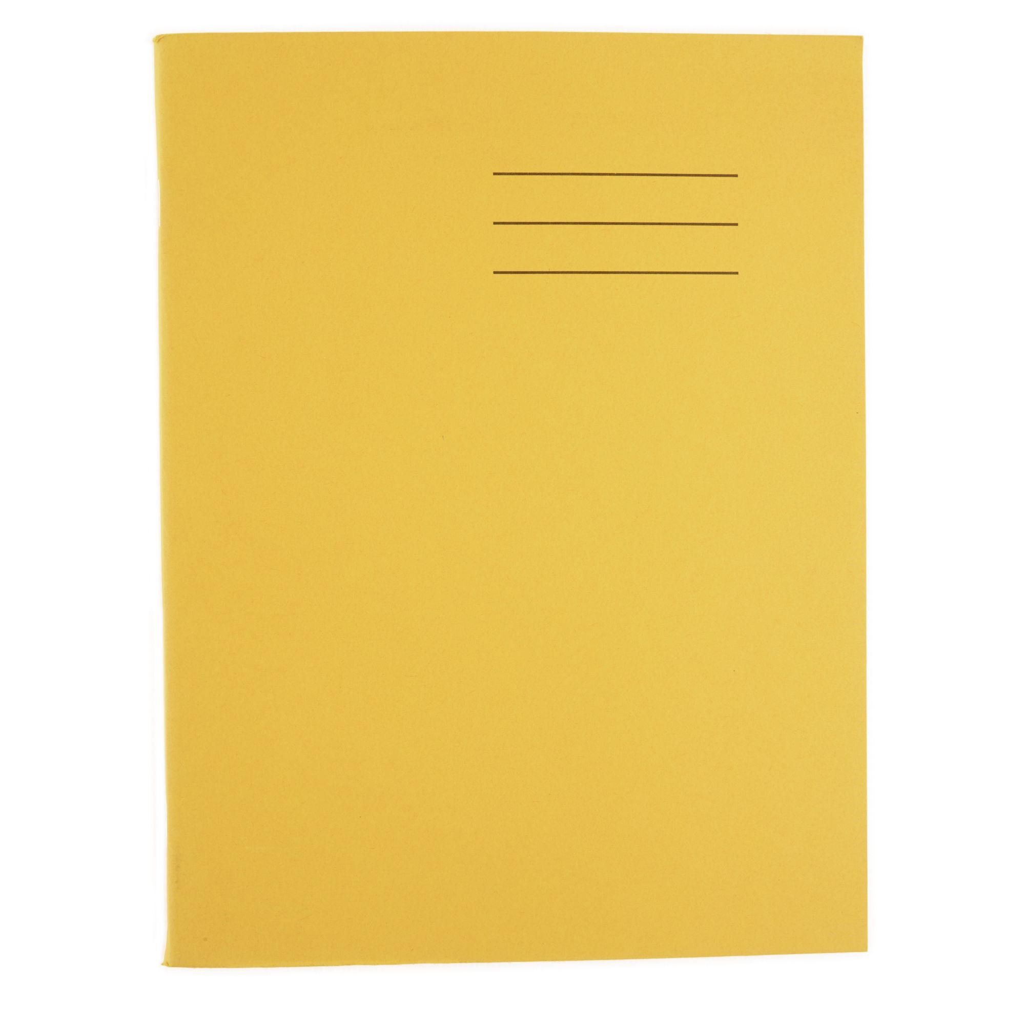 A4 Exercise Book 64 Page 10mm Squared Yellow (Pack of 100)