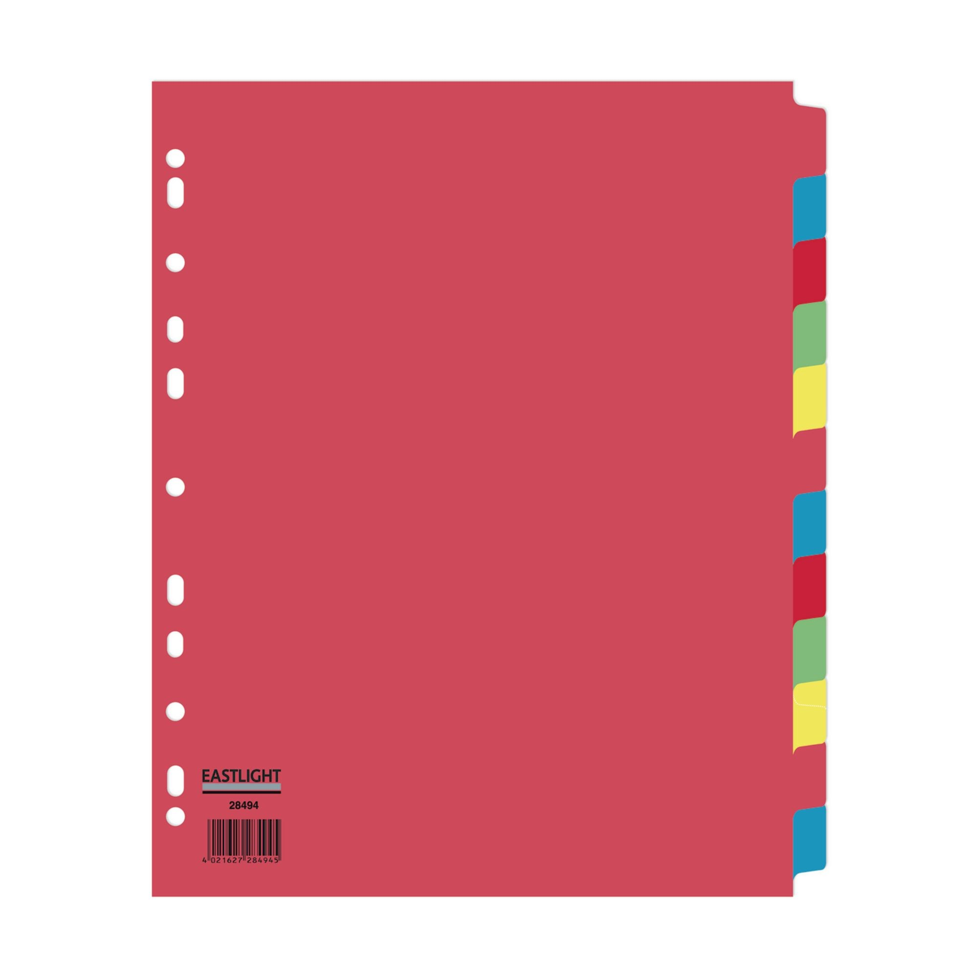 Concord Divider 12-Part A4 Extra Wide Pastel Colours (Pack of 5)