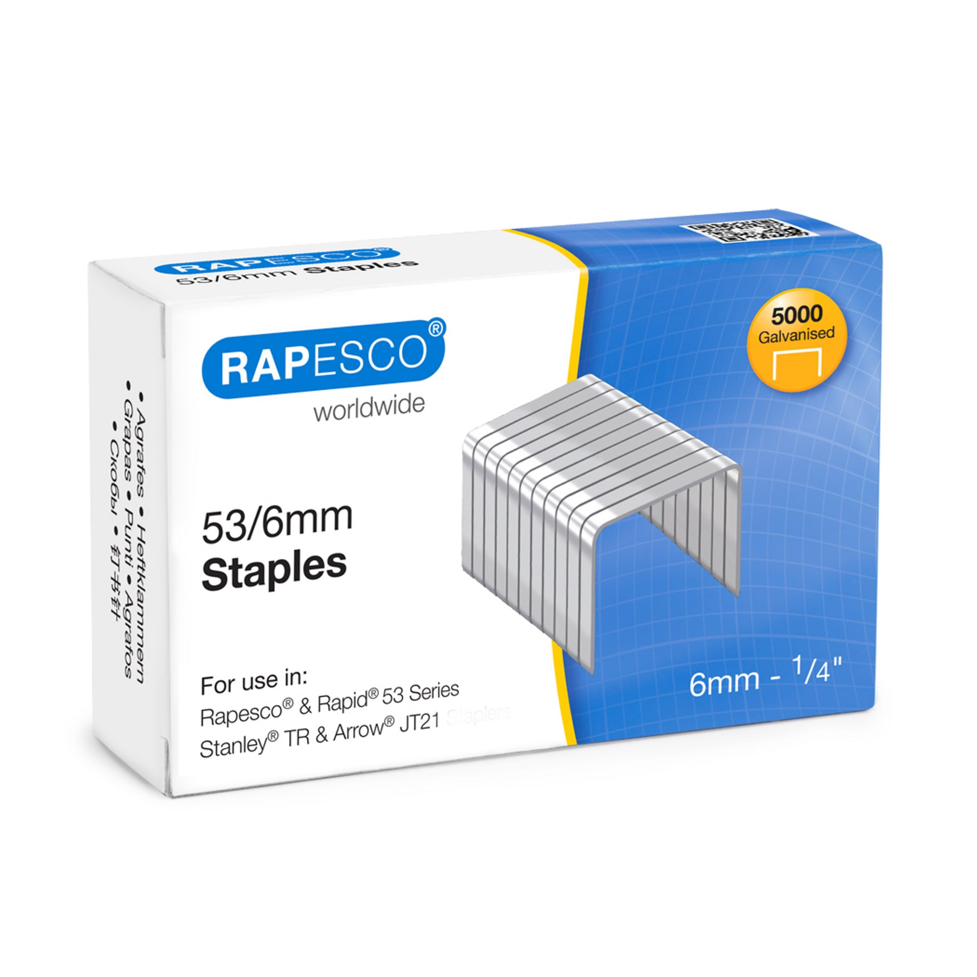Rapesco Staples53/6mm - Pack of 5000