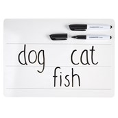Classmates Lightweight Whiteboards - Non-magnetic - A4 Lined - Pack 105