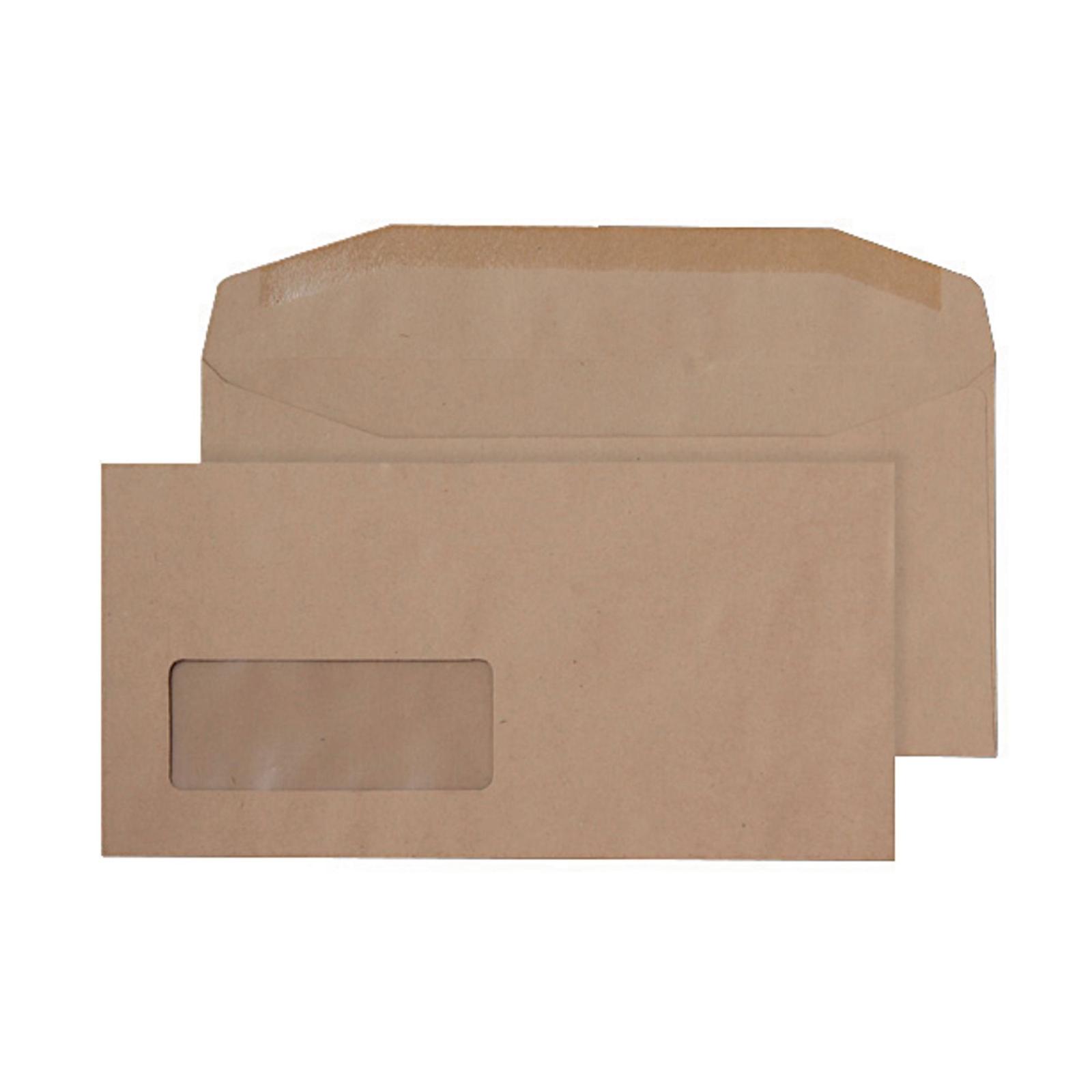 DL Manilla Buff Gummed Wallet Envelopes - Box of 1000