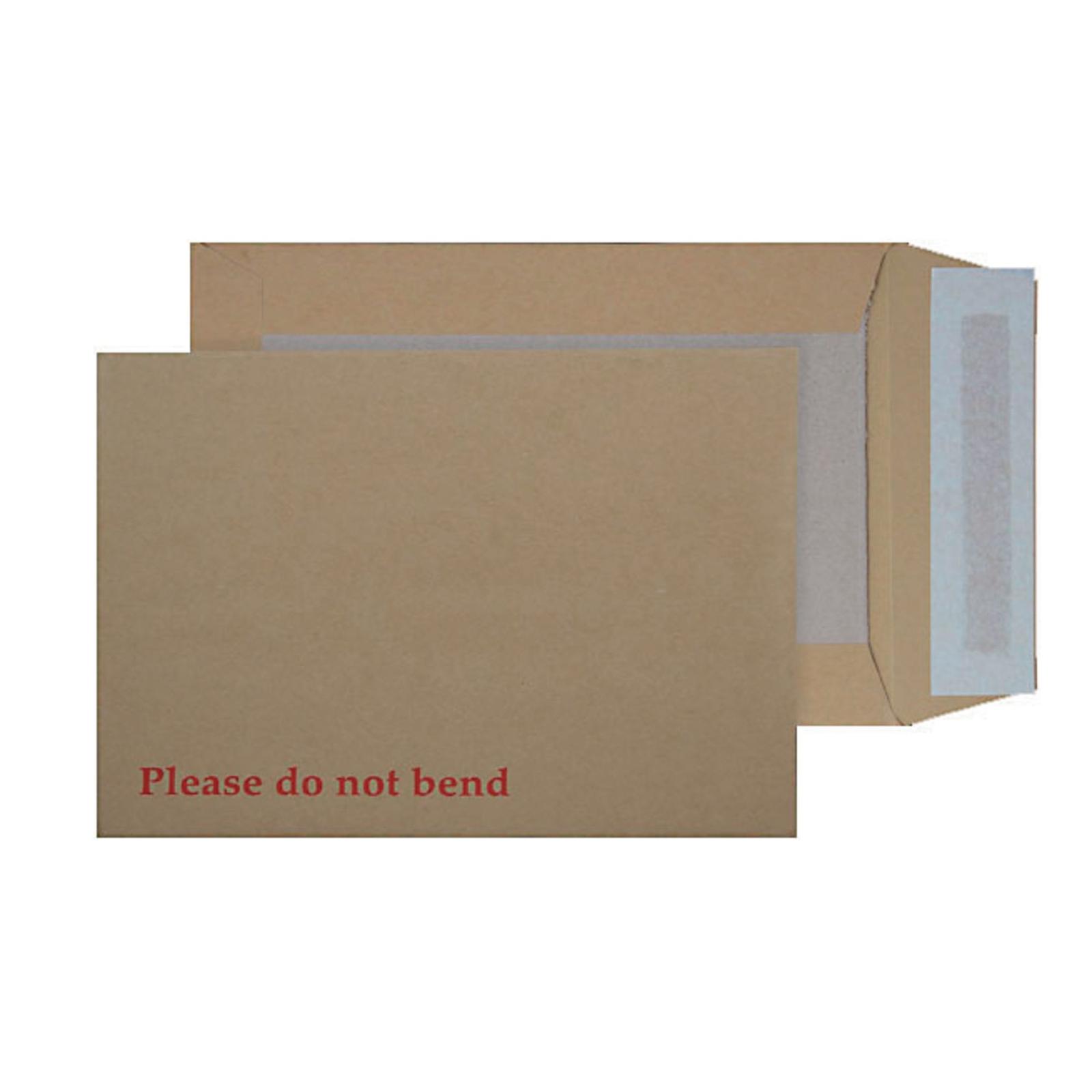 C4 Manilla Peel 'n' Stick Flap Envelopes - Box of 125