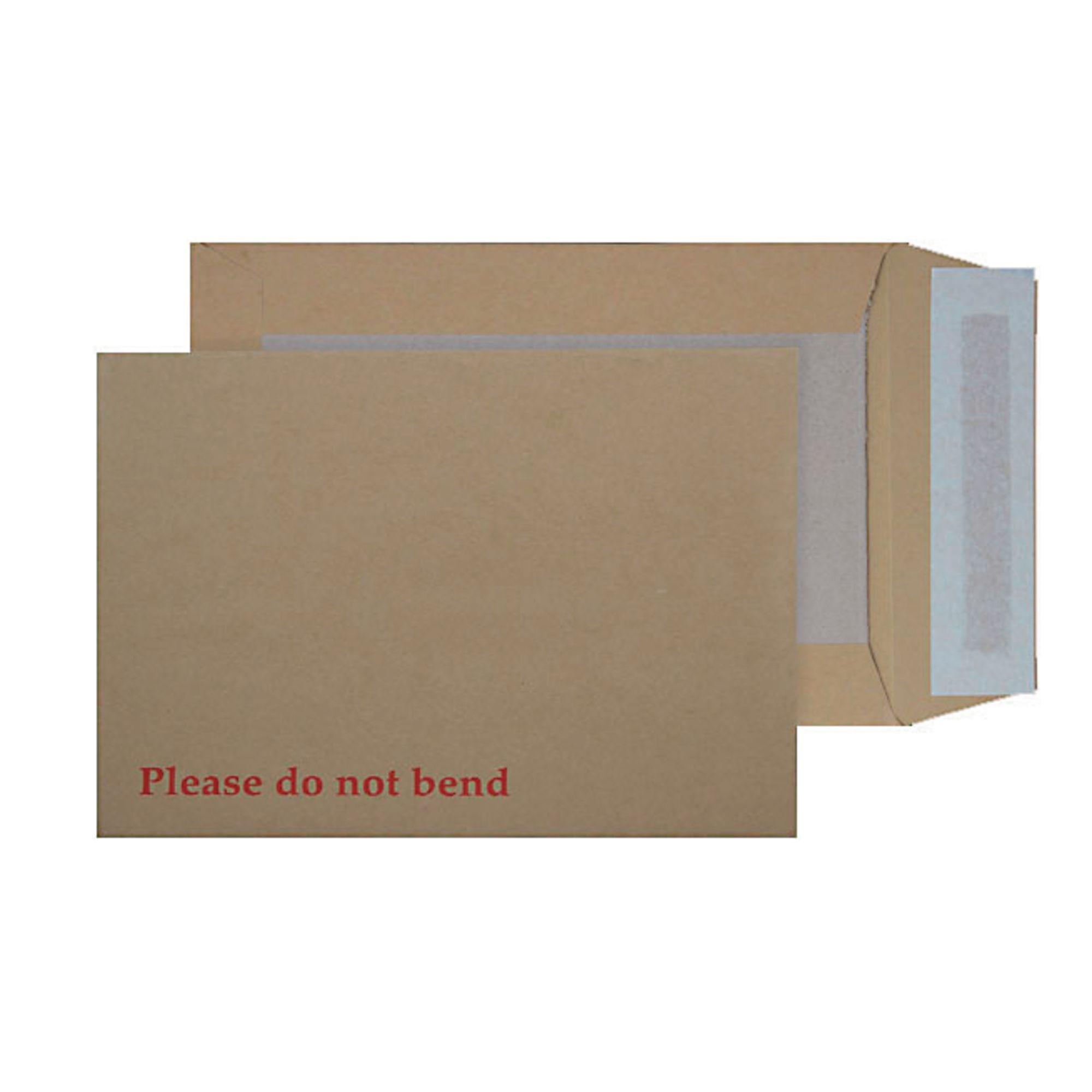 C4 Envelopes Board Back Peel and Seal 115gsm Manilla (Pack of 125)