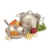 Heavy-Duty Stainless Steel Pans - 240mm casserole
