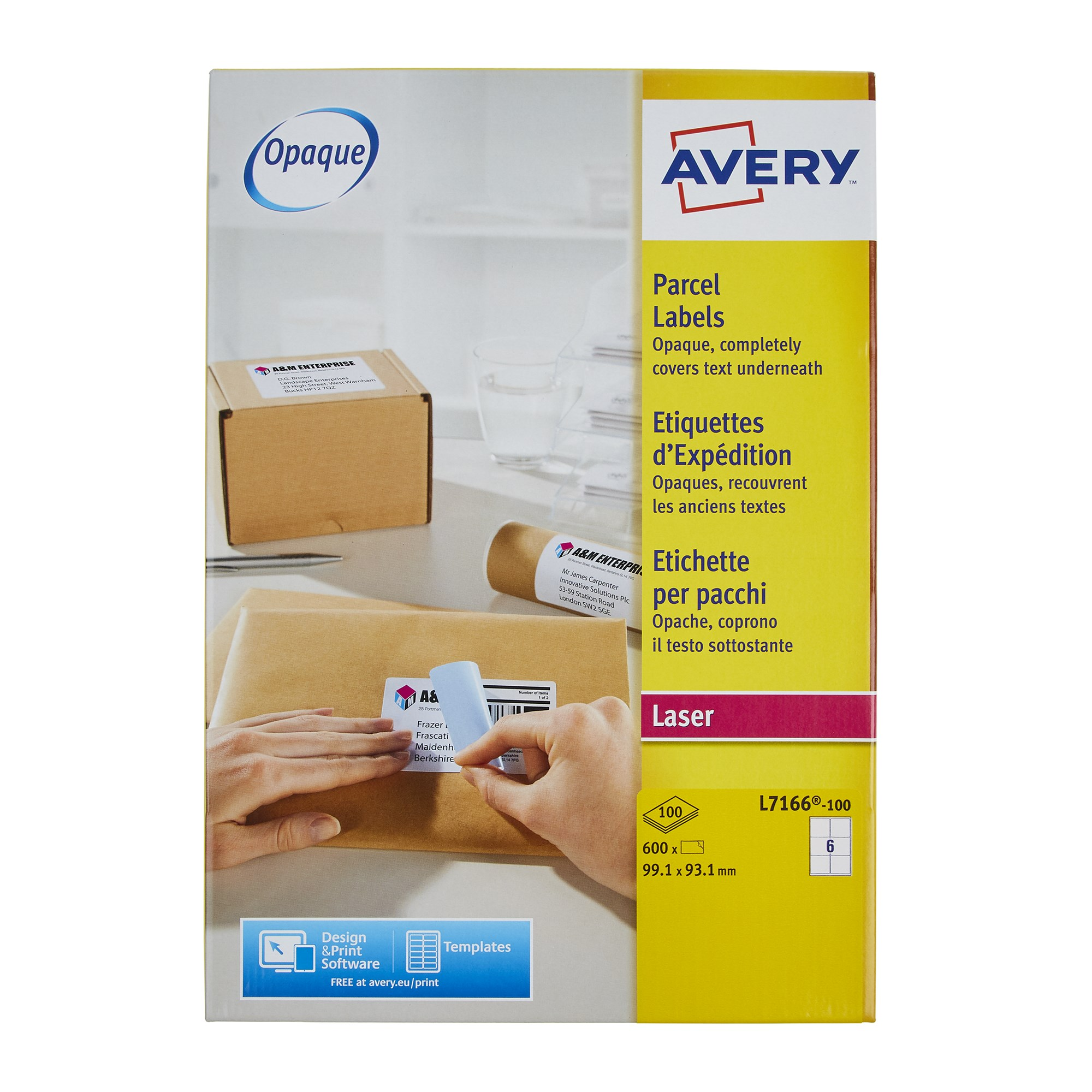 Avery® Las Parcel Labels 199.6 x 143.5mm