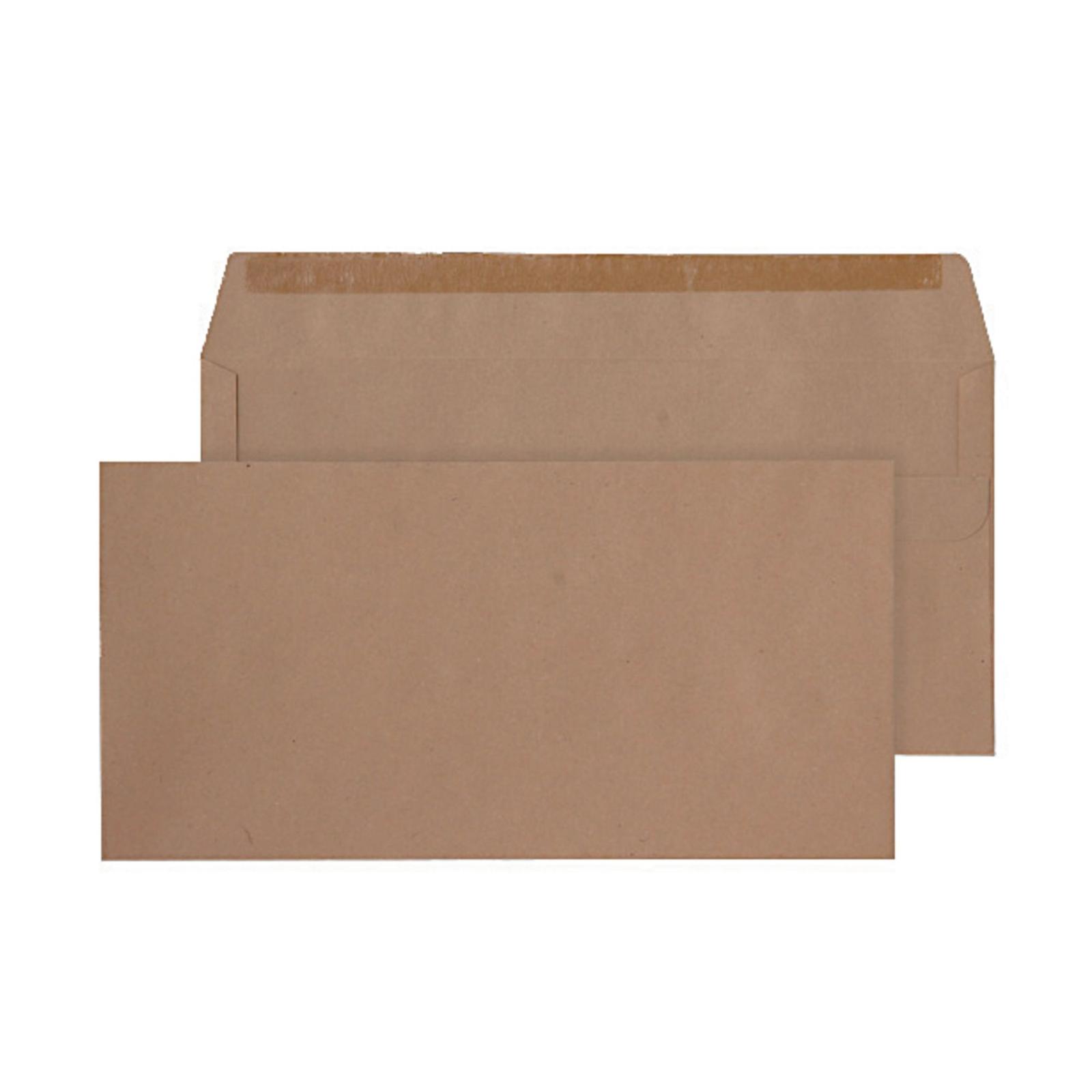 DL Manilla Gummed Mailer Envelopes - Pack of 50