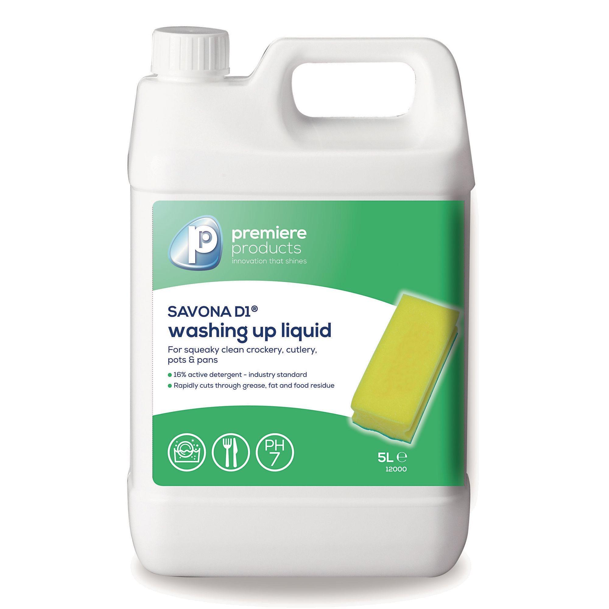 Savona D1 Washing Up Liquid 5L (Pack of 2)