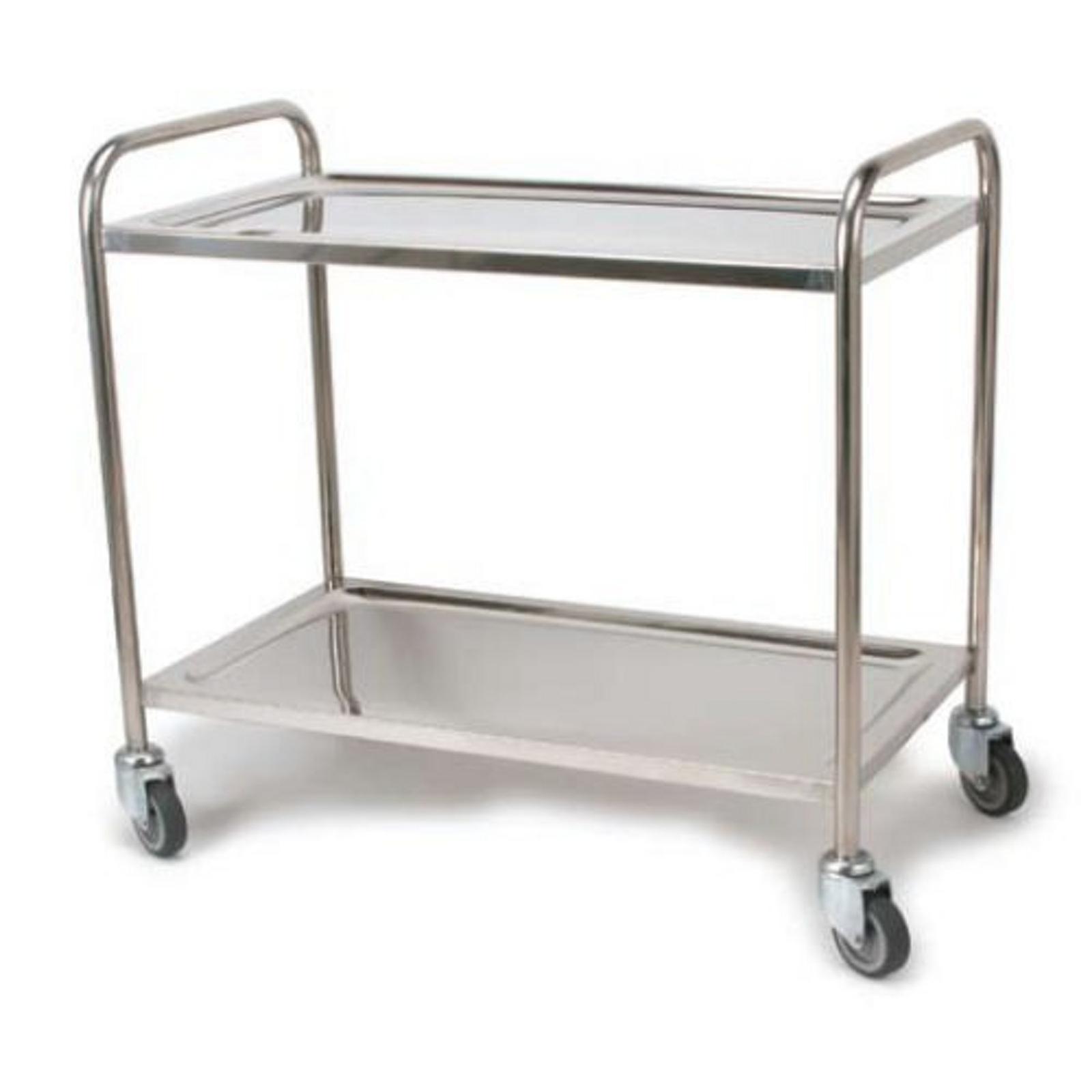 Stainless Steel Trolleys - 2 tier