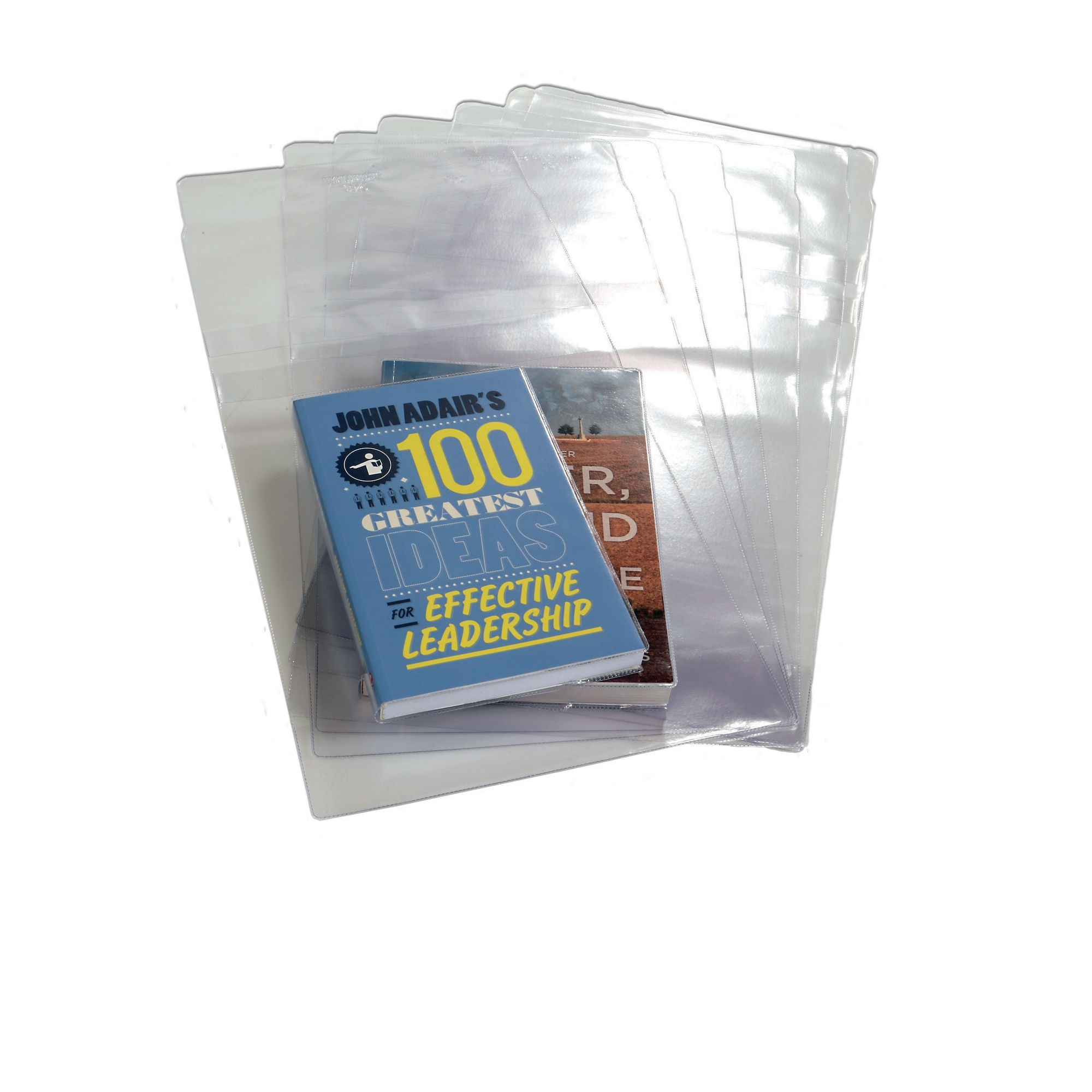 Paperback Adjustable Table Jackets 276mm Spine Book Covering Clear (Pack of 100)