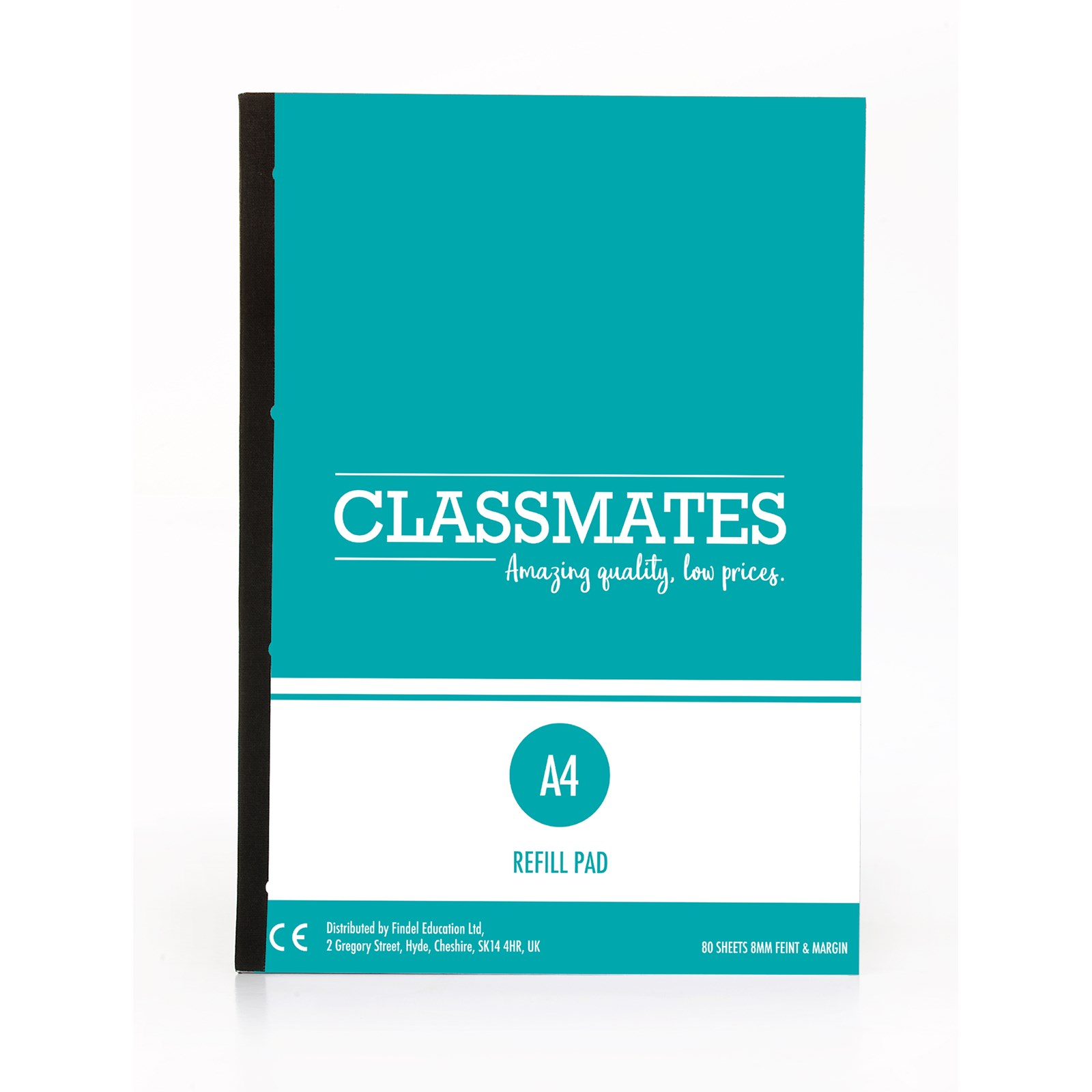 Classmates Refill A4 160 Page Pad White/Red - Pack of 5